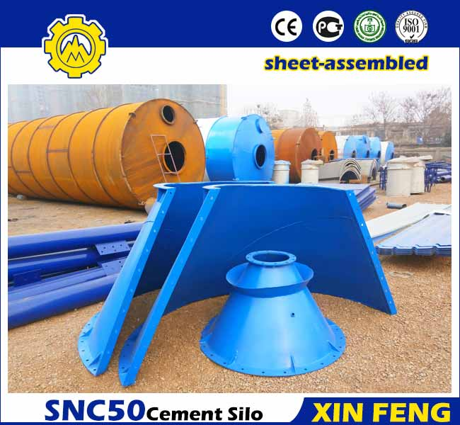 Sheet-assembled 50T Cement Silo