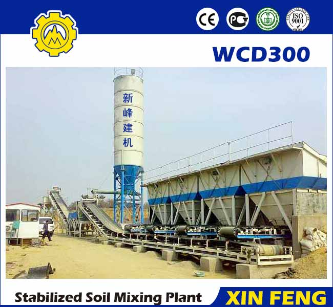 WCD300 stabilized soil batching plant
