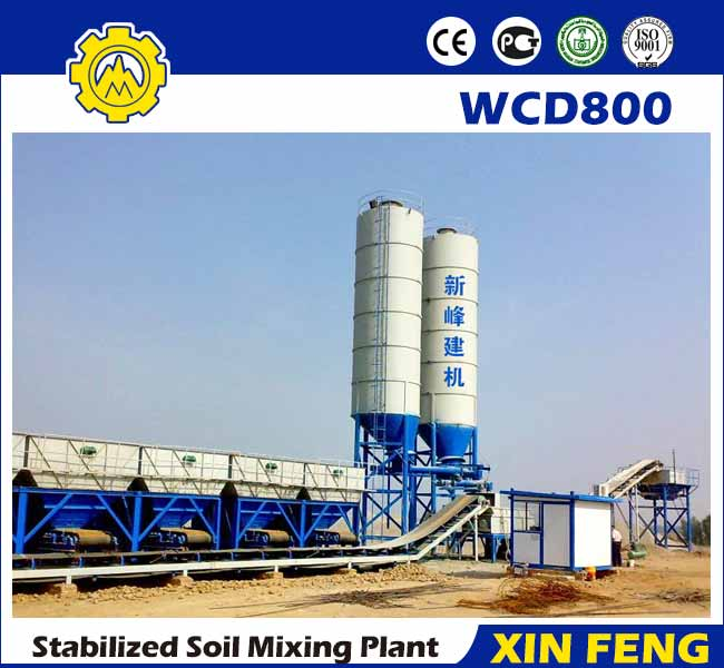 WCD800 stabilized soil batching plant